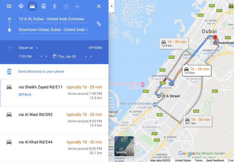 Traffic-Extraktor von Google Maps
