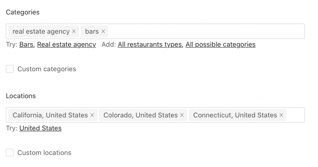 Google Maps extractor page