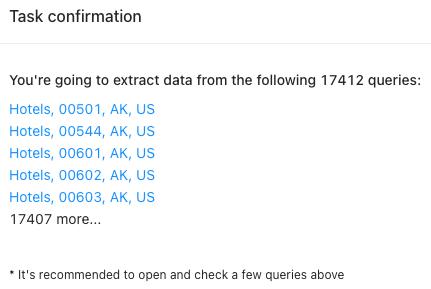 google maps queries validation